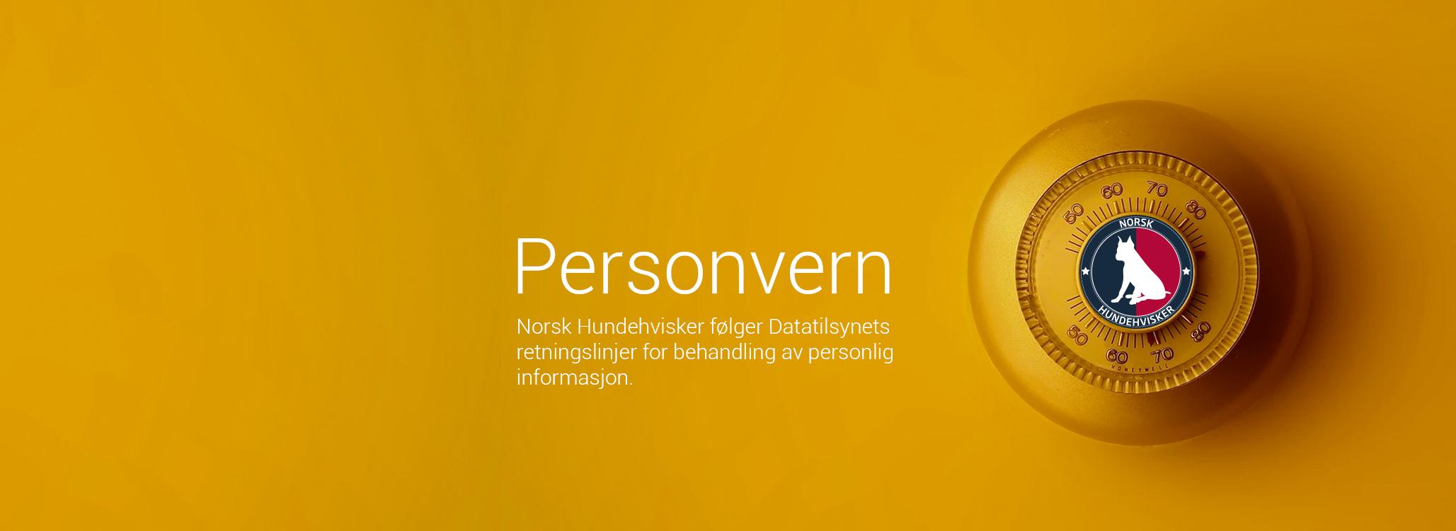 norsk hundehvisker personvern
